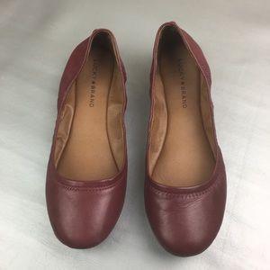 Lucky brand Emmie wine/Burgundy ballet flats